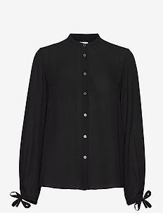 Gia Blouse - long sleeved blouses - black
