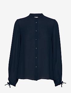 Gia Blouse - long sleeved blouses - dark blue