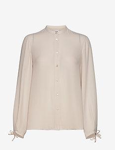 Gia Blouse - long sleeved blouses - ivory