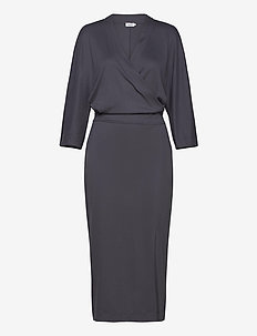 Irene Dress - robes portefeuille - ink blue