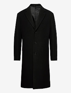 M. London Coat - ullfrakker - black