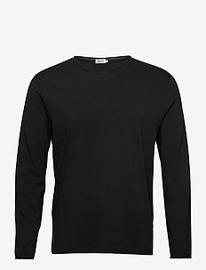 M. Roll Neck Longsleeve - basic t-shirts - black