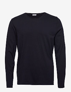 M. Roll Neck Longsleeve - basic t-shirts - navy