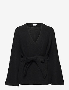 Joline Jacket - wool jackets - black