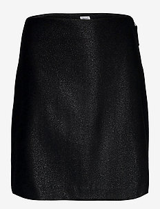 Holly Lurex Skirt - jupes courtes - black lure