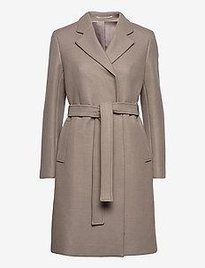 Kaya Coat - wool coats - grey taupe