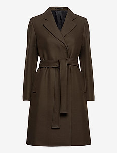 Kaya Coat - wollen jassen - pine green