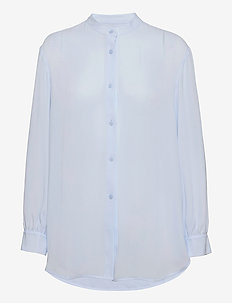 Layla Blouse - langærmede bluser - washed blu