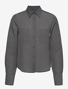 Helena Shirt - langärmlige hemden - metal