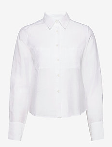 Helena Shirt - langärmlige hemden - white chal