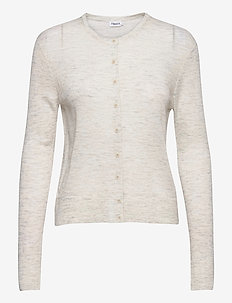 Louise Knitted Cardigan - cardigans - light grey