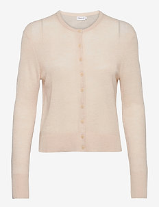 Louise Knitted Cardigan - swetry rozpinane - natural be