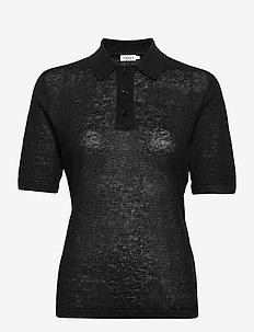 Angeline Knit Top - strikkede toppe - black