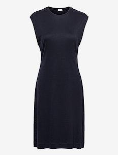 Aurora Dress - midi dresses - navy