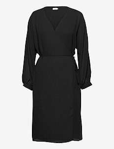 Willa Dress - omlottklänningar - black