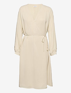 Willa Dress - omlottklänningar - soft beige