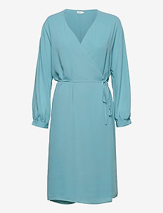 Willa Dress - slå-om-kjoler - turquoise