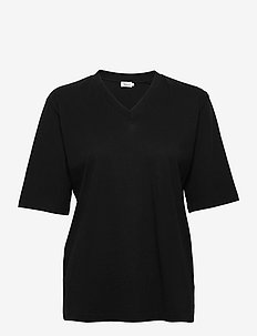 Matilda V-Neck Tee - t-shirts - black