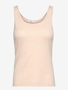 Lisa Knit Top - sleeveless tops - soft beige