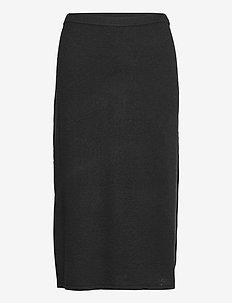 Honor Knitted Skirt - midi skirts - black