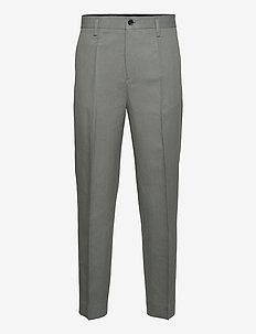 M. Mateo Linen Trouser - formele broeken - green grey