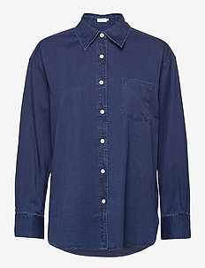 Sammy Chambray Shirt - jeanshemden - marine blu