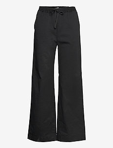 Gillian Trouser - bukser med brede ben - black