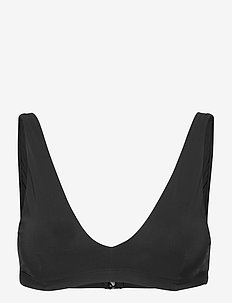 Matte Bra Top - bikini overdele - black