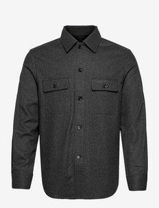 M. Oscar Overshirt - vêtements - dark grey