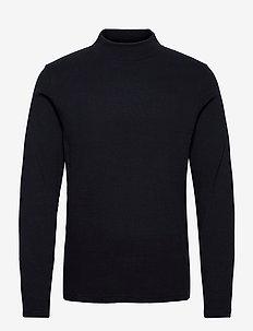 M. Rib Mock Neck Tee - t-shirts basiques - navy