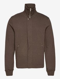 M. Rex Jersey Jacket - half zip - dark taupe