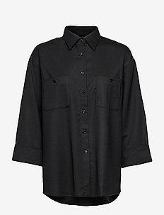 Sandie Flannel Shirt - koszule z długimi rękawami - black