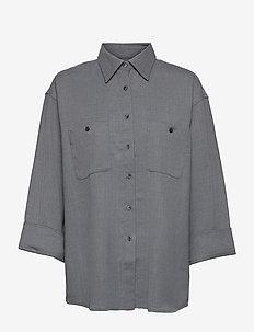 Sandie Flannel Shirt - chemises à manches longues - mid grey m