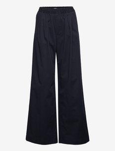 Kasey Trouser - bukser med brede ben - navy
