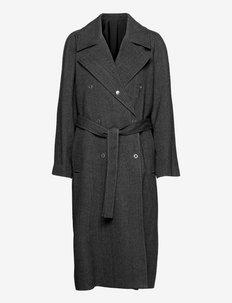 Siena Coat - wełniane płaszcze - grey herri