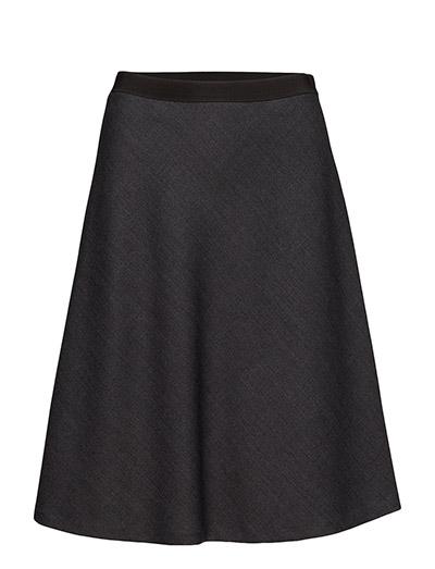 Bias Cut Skirt - GREY MEL.
