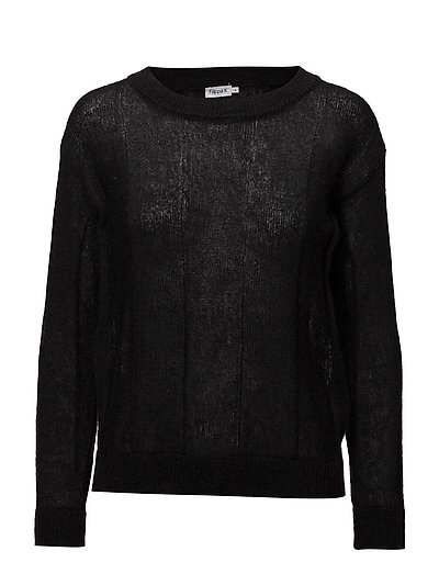 Delicate Mohair Pullover - BLACK