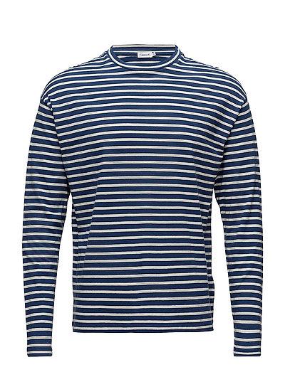 M. Striped Long Sleeve - AQUATIC/BO