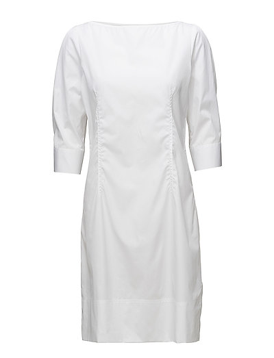 Poplin Dress - WHITE