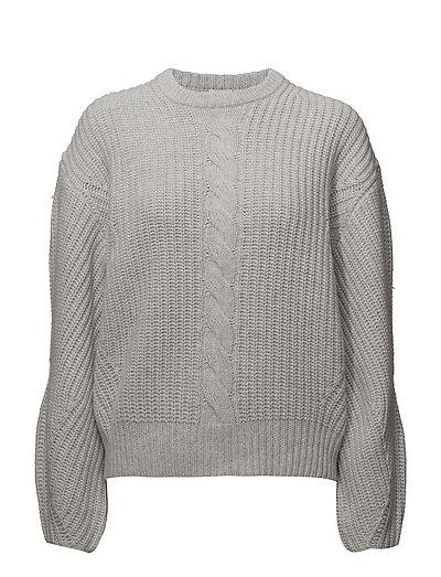 Sculptural R-neck Sweater - SUPERLIGHT