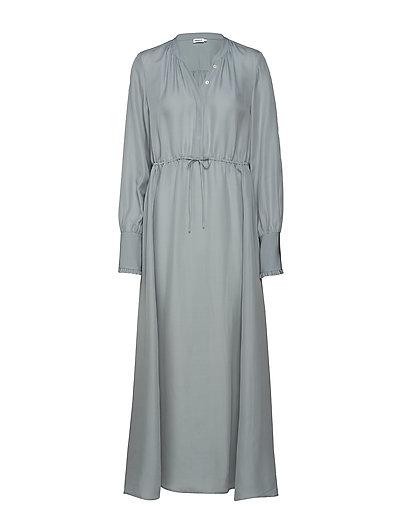 Flowy Silk Dress - DOVE BLUE
