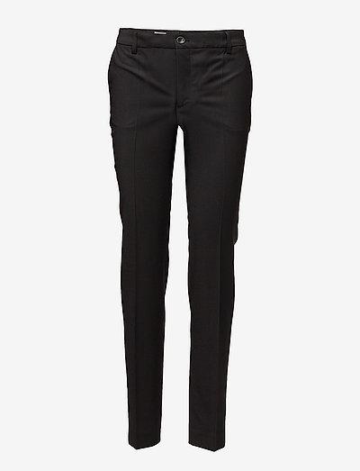 Luisa Cool Wool Trouser - bukser med lige ben - black