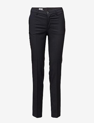Luisa Cool Wool Trouser - bukser med lige ben - dk. navy