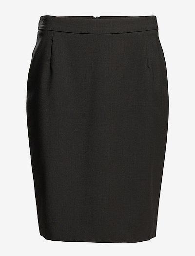 Cool Wool Pencil Skirt - midi-röcke - black