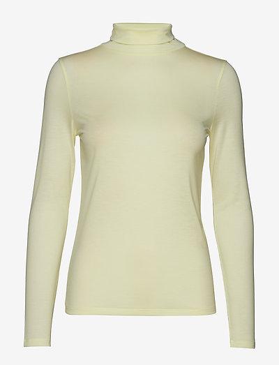 Tencel Polo Neck Top - t-shirt & tops - pale lime