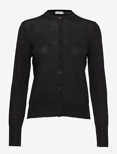 Merino Short Cardigan - cardigans - black