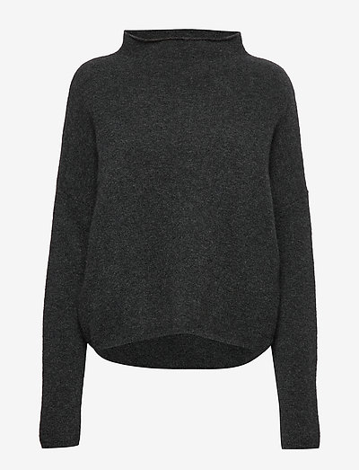 Mika Yak Funnelneck Sweater - rolkraagtruien - charcoal m