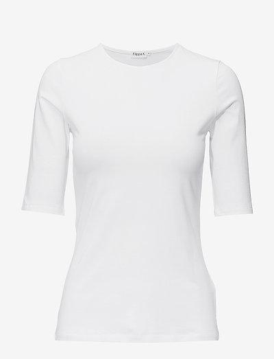 Cotton Stretch Elbow Sleeve - t-shirts - white