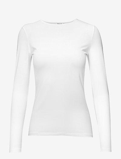 Cotton Stretch Long Sleeve - langærmede toppe - white