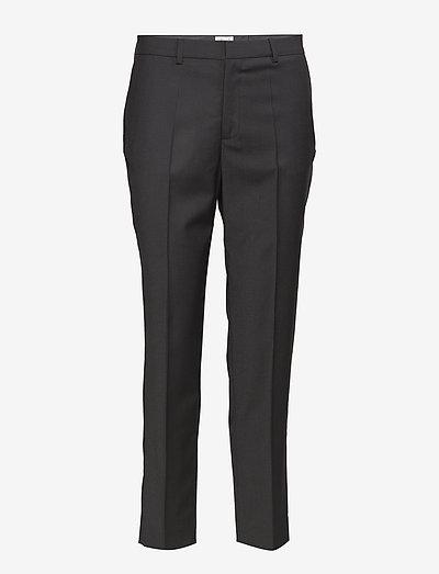 Emma Cropped Cool wool Trouser - spodnie proste - black